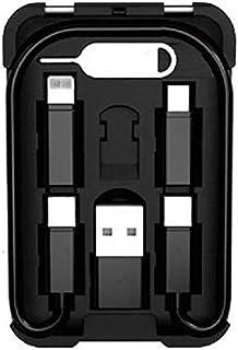 Smart Link Card (スマートリンクカード) あらゆる充電もこれ1つで 6in1充電ケーブルセット データ転送 スマホスタンド iPhoneもAndroidも (USB Lightning Type-C Micro USB Typ...