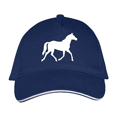 Sol's / Fassbender-Druck Basecap mit Pferd Bedruckt (Pferd Navyblau)