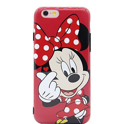 MC Fashion iPhone SE 2020 Case, Cute Finger Heart Cartoon Characters Glossy Soft Slim TPU Case for Apple iPhone SE 2020, iPhone 7 and iPhone 8 4.7-inch (Minnie Mouse)