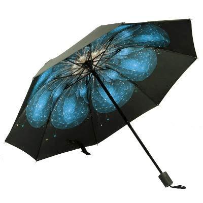 Creativo pétalo estrellado hombres mujeres pequeño sol lluvia paraguas protección a prueba de viento compacto viajes al aire libre paraguas-como imagen