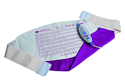 Almohadilla termica lumbar - tamaño 66 x 26 cm - potencia 110 w - esterilla electrica térmica para espalda zona inferior - manta eléctrica adaptable