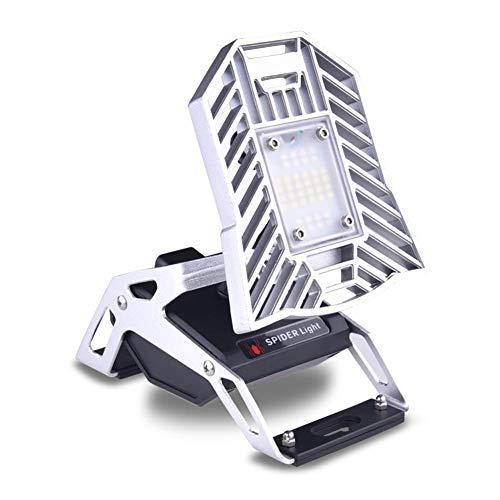papasbox Multifuncional LED de Carga IP65 Luz de Emergencia Ajustable para Exteriores, con Siete Modos de iluminación y una Base magnética, fácil de Usar e Instalar, Tiempo de Uso prolongado