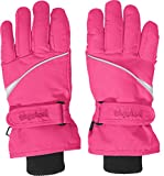 Playshoes Kinder-Unisex Skihandschuhe Thinsulate Fingerhandschuhe mit Klettverschluss, pink, 4