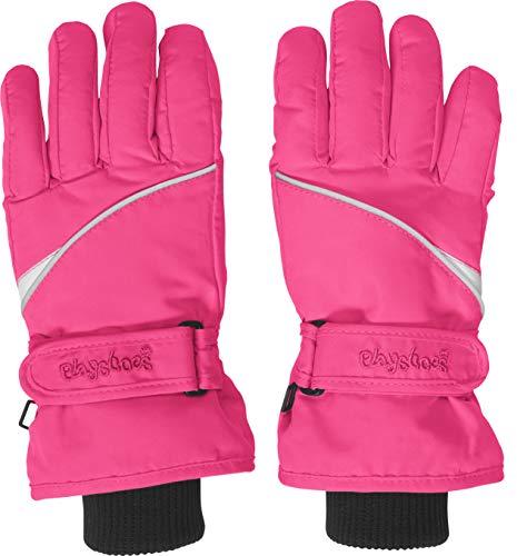 Playshoes Kinder Finger-handschuh Unisex Fingerhandschuhe mit Klettverschluss, Rosa (Pink 18), 5 EU