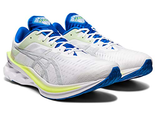 ASICS Zapatillas de running Novablast para hombre, blanco (Blanco (White /Glacier Grey)), 46