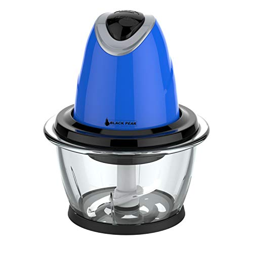 Hachoir électrique Blackpear BHA 013 - Bleu - 300W - Bol en verre - Capacité 1L