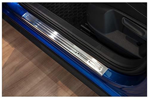 tuning-art XF501-3 Protectores de Umbral, Acero INOX, Color:Plata