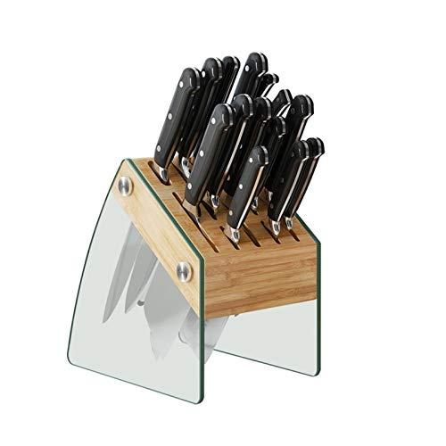 WZHZJ Suministros de Cocina Insertar portacuchillos Juego para el hogar Portacuchillos Portacuchillos Estante de Almacenamiento de Cuchillo de bambú de bambú Grande