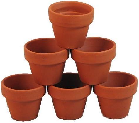 Small tiny terracotta pot Handmade mini garden pots. Clay pot Set of 12 12 Tiny terracotta pot