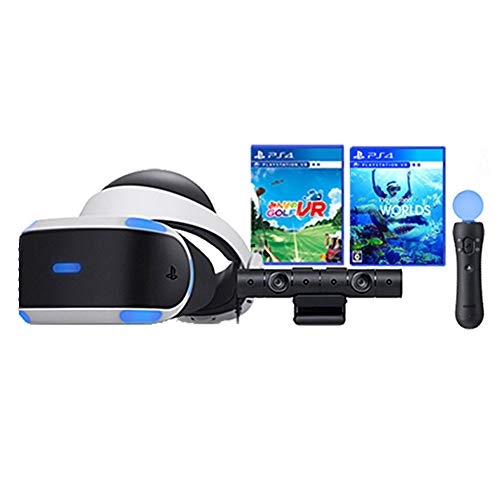 "PlayStation VR""PlayStation VR WORLDS""同梱版 + みんなのGOLF VR + PlayStation Move モーションコントローラー 【Amazon.co.jp特典】 CYBER PS4用コントローラー充電ケーブル3m セット"