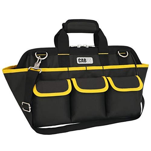 ツールバッグ 工具差し入れ CAB55調節可能な肩ベルト 工具持ち運び ツールキャリーバッグ ??道具袋 工具バッグ 600D 強化底 幅37cm