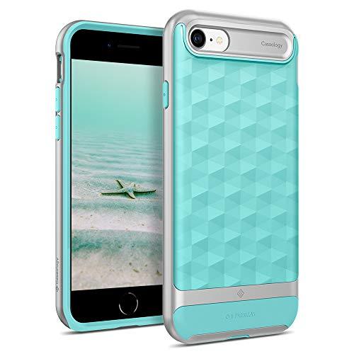 Caseology Parallax, Funda iPhone SE 2020 / iPhone 8 / iPhone 7, Antigolpes, Diseño Geométrico, Patrón 3D, Carcasa Diseñada para iPhone SE 2020 / iPhone 8 / iPhone 7 (Matte Black)