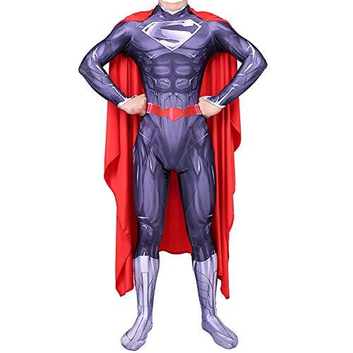 Traje de Superman Vestido, Clark Kent Cosplay Ropa, Superhéroe Batalla Traje, Adulto Children Película rol Ropa Body, Zentai,A~Male-L