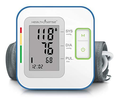 HealthSense Heart-Mate BP 100 Upper Arm Automatic Digital Talking Blood Pressure Monitor Machine & Pulse Checking Instrument with Micro-USB port, Accurate & Best for Home Monitoring with 1 Year Warranty & Batteries Included