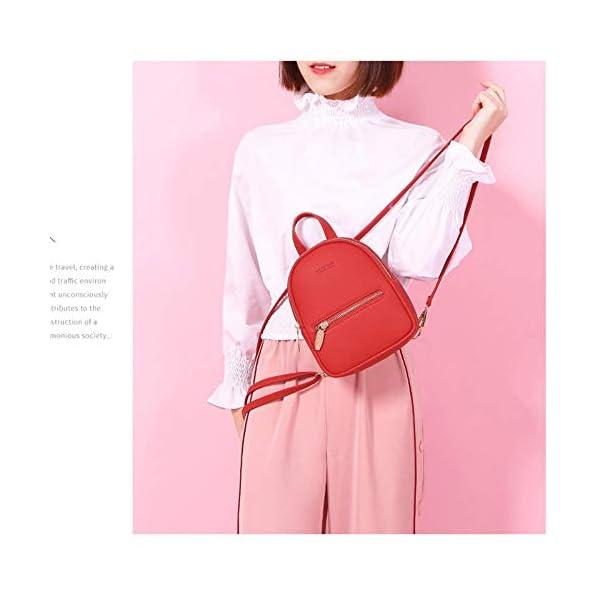 Diseñador Moda Mochila para Mujer Mini Soft Touch Multifunción Mochila pequeña Mujer Bolso de Hombro Bolso para niña…