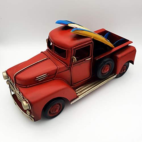 DynaSun Art Model PickUp Vintage Vintage Auto Truck in Metaal, Verzamelbaar in Retro Antieke Stijl Schaal 1:20 25 cm