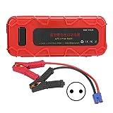 aqxreight Boîte de démarrage au Lithium 500 A 12 V, Chargeur de Batterie Externe Portable et câbles de démarrage pour Moteurs Diesel jusqu'à 5 litres et Voitures 12 V(Prise européenne)