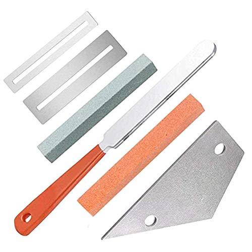 Gitaar Vingerbord Fretboard Guard met Grinder voor Gitaar Bas Luthier Tool, Gitaar Luthier Tool Kit RVS Gitaar Fret Repair Tool Set DIY Gitaar Reparatie Kit