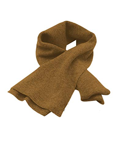Cashmeren Unisex Ultra Soft Ribbed Scarf 100% Pure Cashmere • Solid Color • Extended Length 70