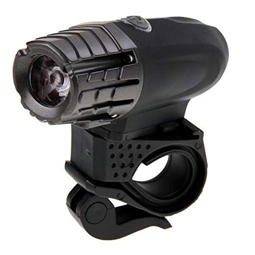 Faros de Bicicleta LED, Faros de la Bici, luz de la Noche de la Bicicleta USB extraíble, Cabe en un Manillar de 12 a 30 milímetros, Monsteramy (Color : Black)