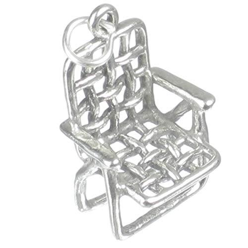Chaise de jardin BRELOQUE EN ARGENT STERLING .925 x 1 JARDINS PELOUSE chaises breloque sslp3288
