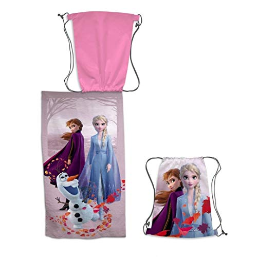 Disney Toalla de Playa Frozen + Bolsa de Playa Frozen