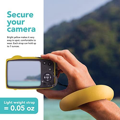 Foto&Tech Waterproof Camera Float Strap for Underwater Camera Waterproof Wristband/Hand Grip Lanyard Compatible with GoPro, Nikon, Canon, Sony,Pentax, Camcorders, Panasonic, Fujifilm, Keys