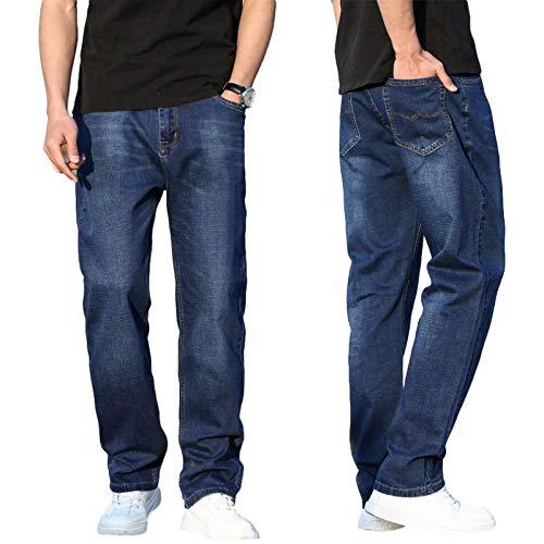 Pantalones Vaqueros de Verano para Hombre, Rectos, Sueltos, de Pierna Ancha, Informales, Todo fósforo, Pantalones Vaqueros de Colores claros, Pantalones de Mezclilla cómodos Informales al Aire 31W
