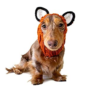 Zoo Snoods Fox Dog Costume – Neck and Ear Warmer Hood for Pets