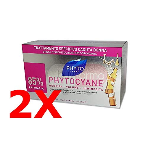 Duo PHYTOCYANE Behandlung Anti Fall für die Frauen 12Ampullen à 7,5ml