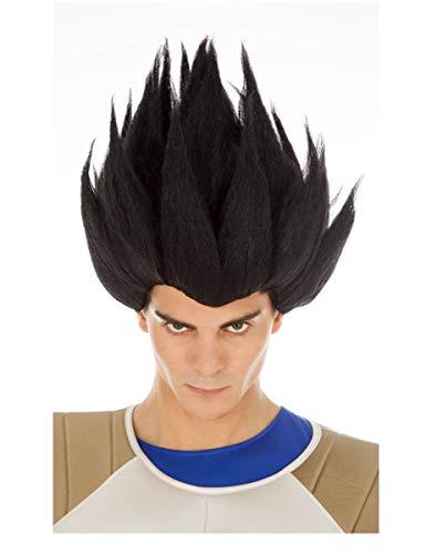 Chaks Vegeta-Perücke für Erwachsene Dragon Ball-Perücke schwarz Einheitsgröße
