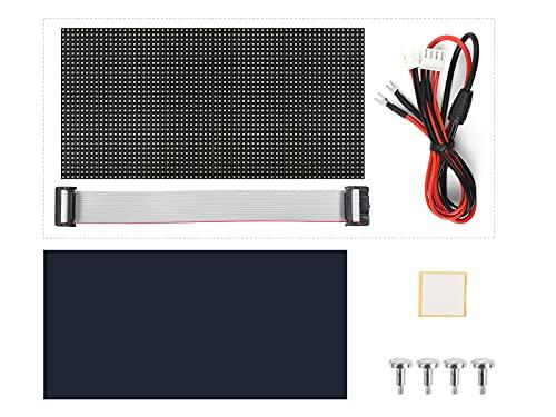 Waveshare RGB Full-Color LED Matrix Panel 64×32 Pixels Led Display Screen 3mm Pitch Digital Led Module Support Adjustable Brightness for Raspberry Pi/Pi Pico/ESP32