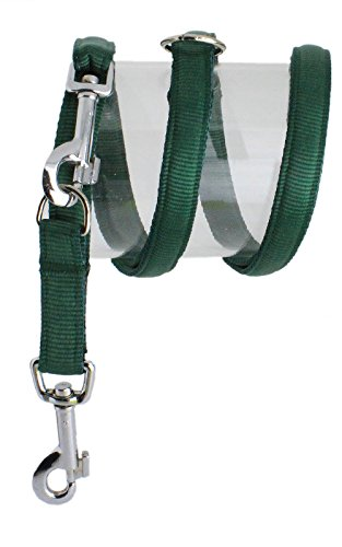 Nylon-Leine UNI 200cm 3fach verstellbar  gepolstert, M, grün