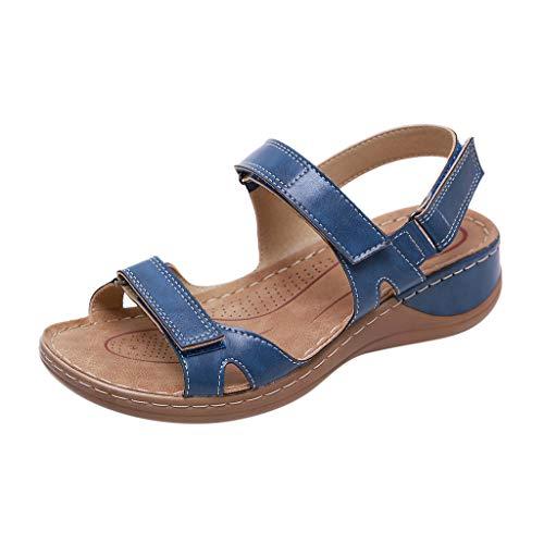 YWLINK Sandalias De Talla Grande para Mujer Zapatos De Playa con Punta Abierta De Verano Sandalias Deportivas Antideslizantes Fondo Plano Zapatillas Casual