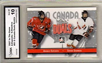 2007-08 ITG O Canada #81 Angelo Esposito Steven Stamkos - Graded GMA Gem MT 10 - Team Canada/Tampa Bay Lightning