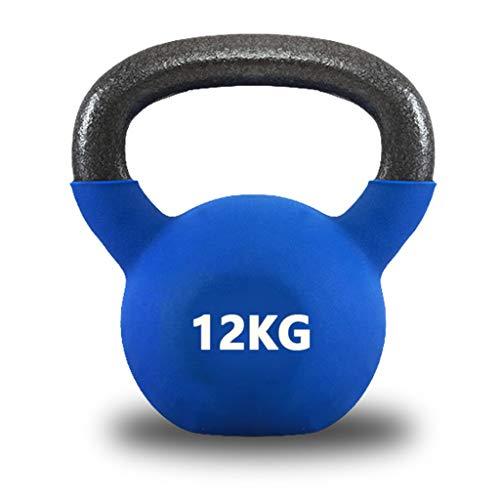Kettlebells Recubiertos de Vinilo Peso Disponible: 8KG, 10KG, 12KG, Kettlebell Weight Set Comfort Grip Mango Ancho para El Hogar y El Gimnasio Equipo de Entrenamiento Físico