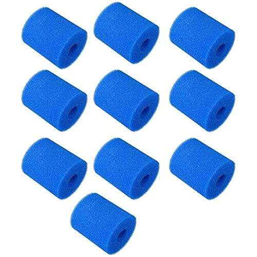 Poolfilterspons, 5/6/10/12/15 / 10st Pool Filter Sponge Vervangingen Herbruikbare Zwembad Filter Foam Sponge Cartridge (Color : 10PCS Intex Type H)