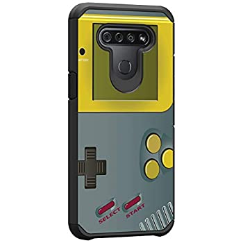 TurtleArmor | Compatible with LG K51 Case | LG Q51 Case | LG Reflect Case | Slim Hybrid Hard Shell TPU Dual Layer Case Cool Designs - Gray Gameboy