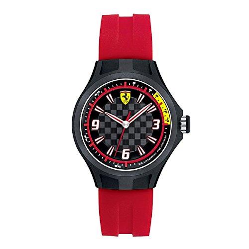 Orologio da bambino/a analogico al quarzo con cinturino in silicone rosso,...