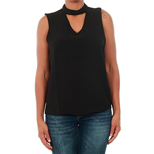Camiseta Only Mujer XS Negro 15145266 ONLMYRINA CHOKER S/L SOLID TOP WVN BLACK