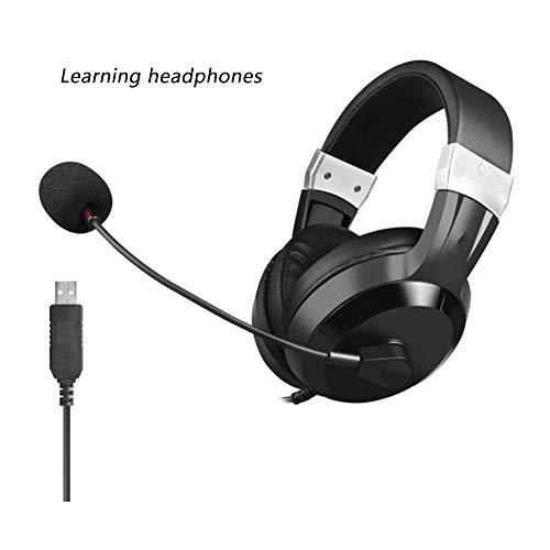YYZLG Headphones, desktop computer one-point microfoon Engels oefenen luisteren en spreken examen man-machine gesprek USB