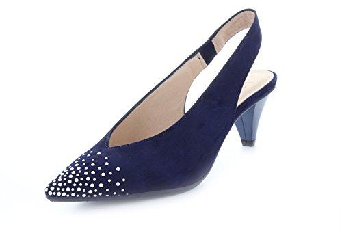 Hispanitas - Zapatos de vestir de Piel para mujer Azul vaquero, color...
