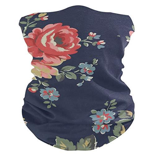 LUPINZ Bufanda mágica, máscara de pesca clásica de rosas, pasamontañas para el cuello y bufanda deportiva