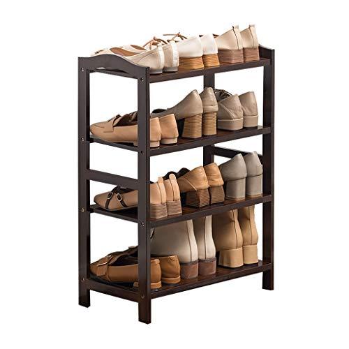 Yyqx Zapatero montado El Estante for Zapatos de múltiples Capas de bambú Tiene Capacidad for múltiples Pares de Zapatos y es Ideal for Jardines de Entrada Almacenamiento de Zapatos