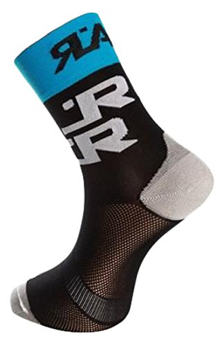 Rafa'l Attack Chaussettes Homme, Noir/Turquoise, FR : 39-43 (Taille Fabricant : 39-42)