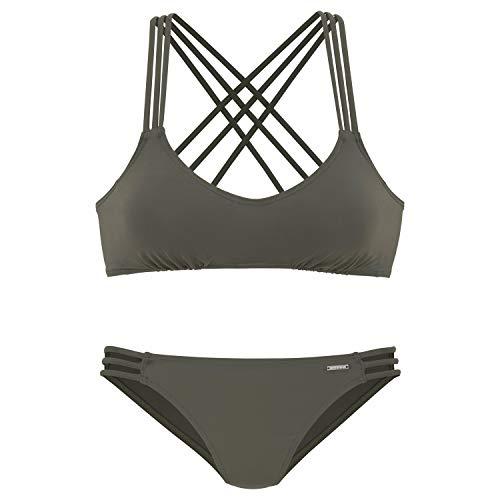 Bruno Banani LM CB Bustier-Bikini C/D Oliv - 40C/D