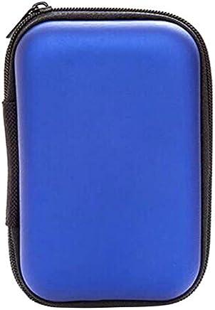 "Zehui Portable Hard Disk Drive Shockproof Zipper Cubierta 2.5"" HDD Bag Hardcase Azul"
