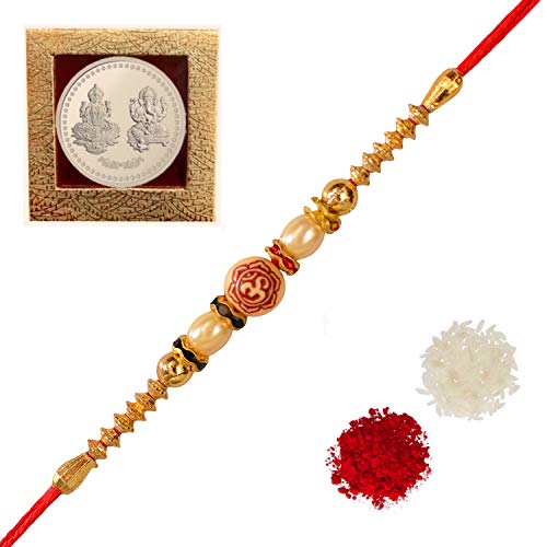 Sarvam Set of 2 Rakhi Raksha Bandhan strands Bracelet Gift for your Brother Indian Rakhi Rakshabandhan Festival