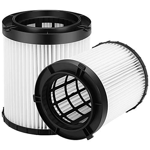 OVBBESS Paquete de 2 filtros de repuesto DC500 (DC5001H) True HEPA para DC5001 sin cables, cable de 2 galones de vacío húmedo/seco