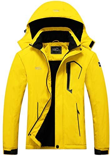 Pooluly Women's Ski Jacket Warm Winter Waterproof Windbreaker Hooded Raincoat